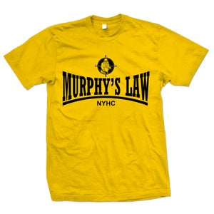 "Image of MURPHY'S LAW ""Secret Agent Skin NYHC"" Gold T-Shirt"
