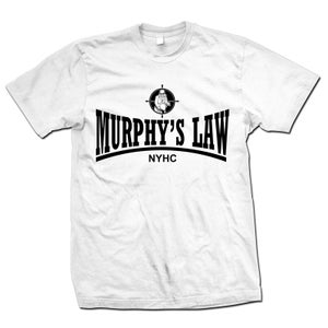 "Image of MURPHY'S LAW ""Secret Agent Skin NYHC"" White T-Shirt"