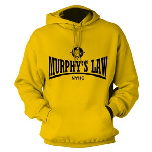 "Image of MURPHY'S LAW ""Secret Agent Skin NYHC"" Gold Hoodie"