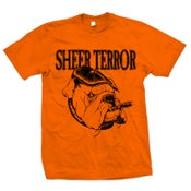 "Image of SHEER TERROR ""Bulldog Style"" Safety Orange T-Shirt"