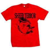 "Image of SHEER TERROR ""Bulldog Style"" Red T-Shirt"