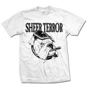 "Image of SHEER TERROR ""Bulldog Style"" White T-Shirt"