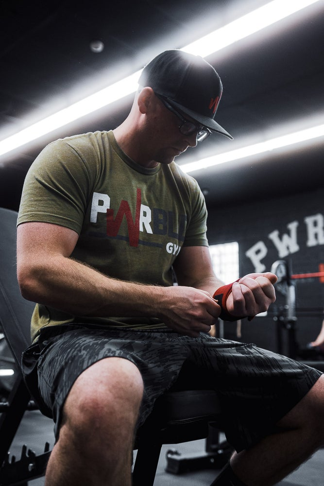 Image of Classic PWRBLD Gym Tee - MIL GRN