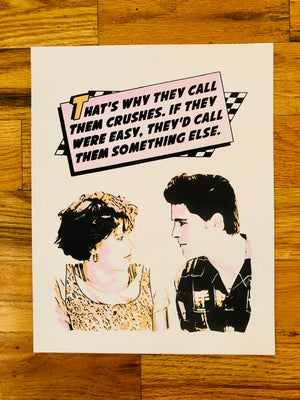 Image of Sixteen Candles Movie Quote Print