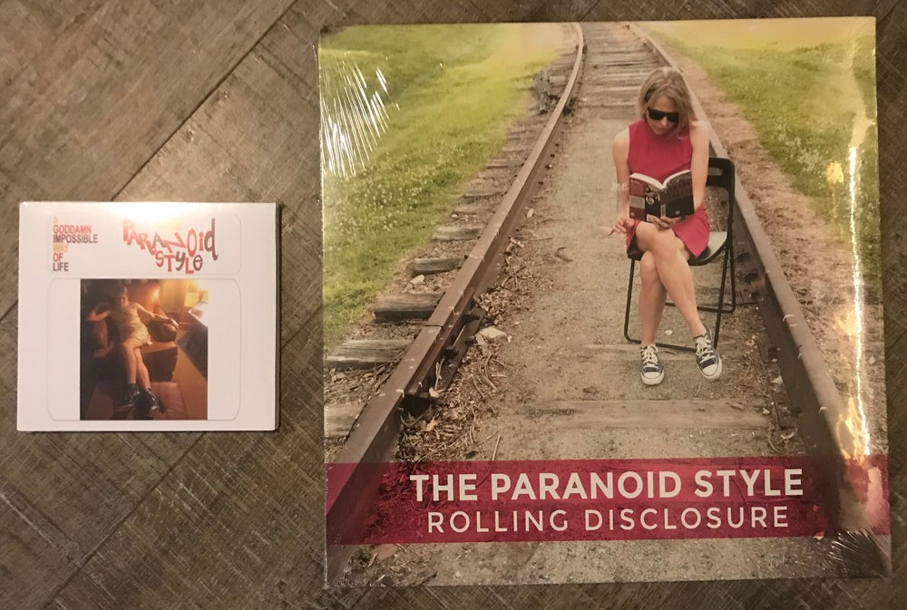 "Image of FULL-LENGTH BUNDLE! ""ROLLING DISCLOSURE"" VINYL AND ""GODDAMN IMPOSSIBLE WAY OF LIFE"" CD!"