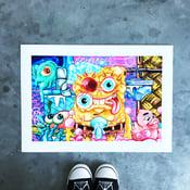 Image of 'Dirty Pants' Hand-Embellished Print
