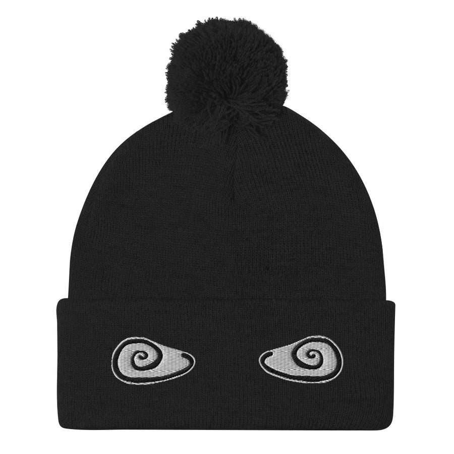 Image of Pom-Pom Beanie Black