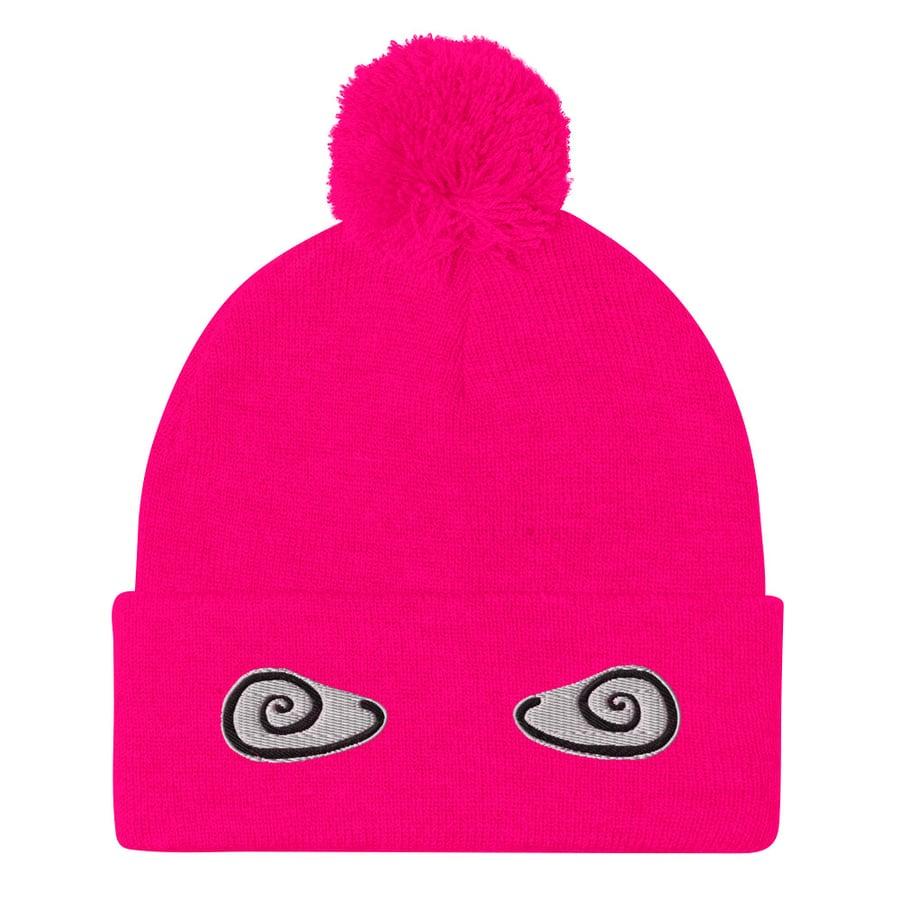 Image of Pom-Pom Beanie Neon Pink