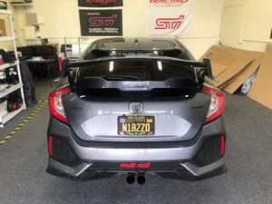 """Image of 2016+ Honda Civic Hatchback """"V2"""" rear gurney flap"""