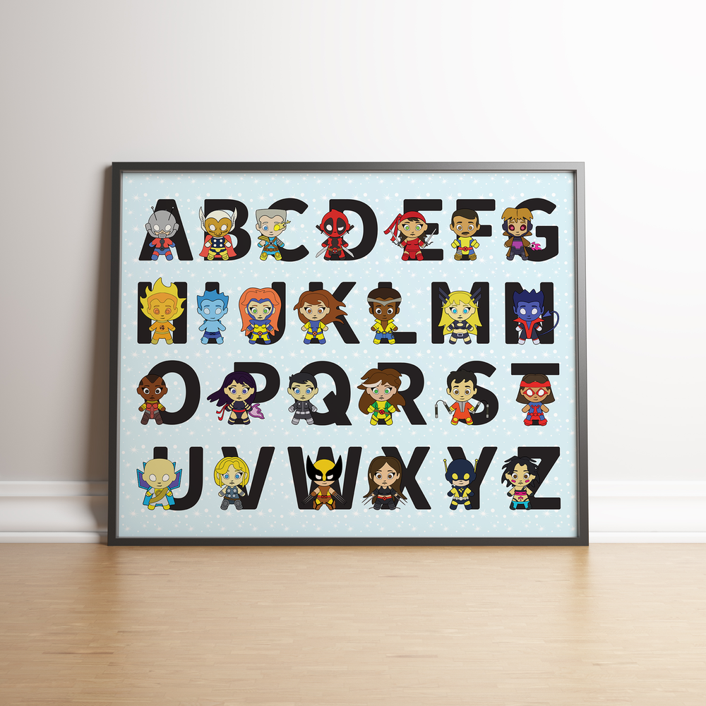Image of Superhero Alphabet Poster