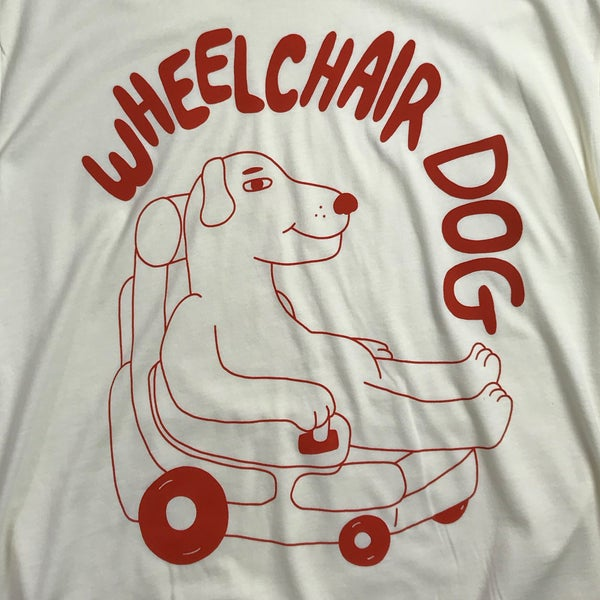 Wheelchair Dog tshirt - Sick Animation Shop