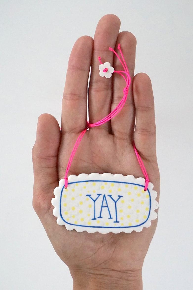 Image of Yay Sunny – porcelain pendant necklace