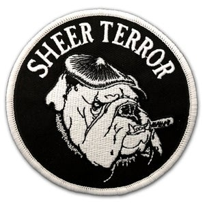 "Image of SHEER TERROR ""Bulldog Style"" Embroidered Patch"