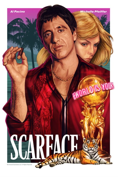 "Image of Scarface 16x24"" (officially licensed artist proof)"