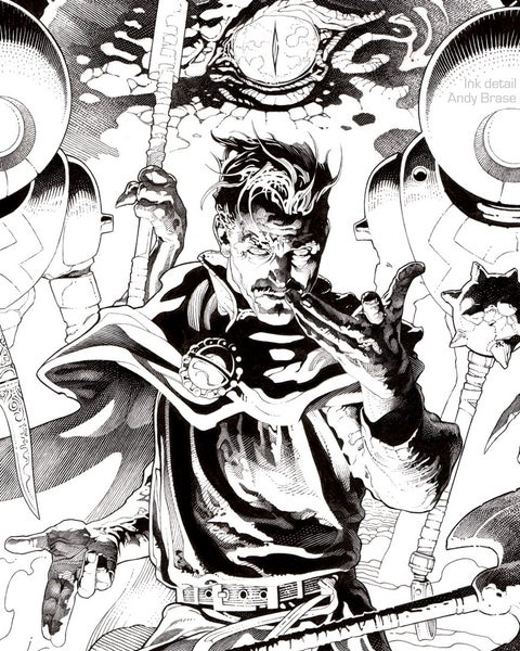 "Image of Dr Strange (Ink)- 13x19 Limited Print (signed) <font color=""red"">SOLD OUT</font>"