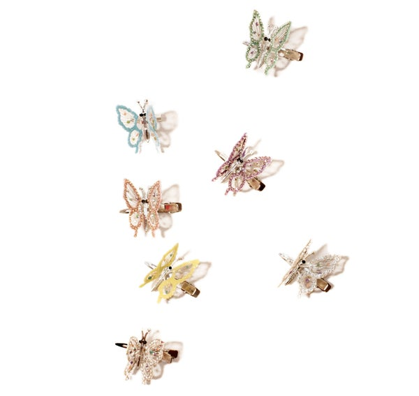 Image of Crystal Butterfly Clips