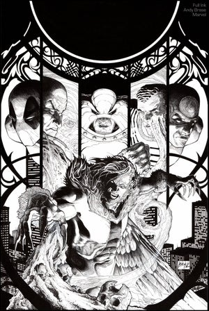"Image of Sabretooth & Villains- 13x19 Limited Print (signed) <font color=""red"">Back in Stock</font>"