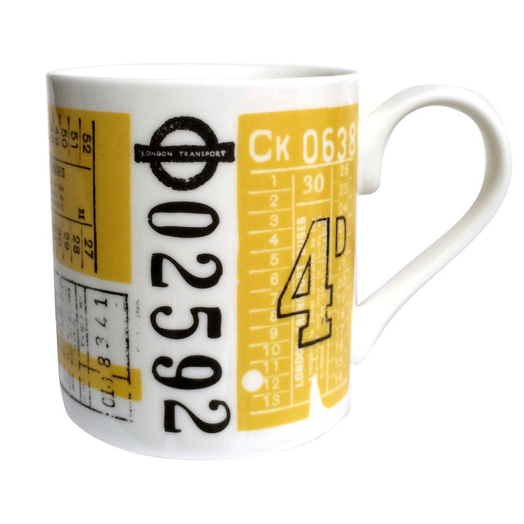 Image of Hold Tight Bone China Mug - Mustard