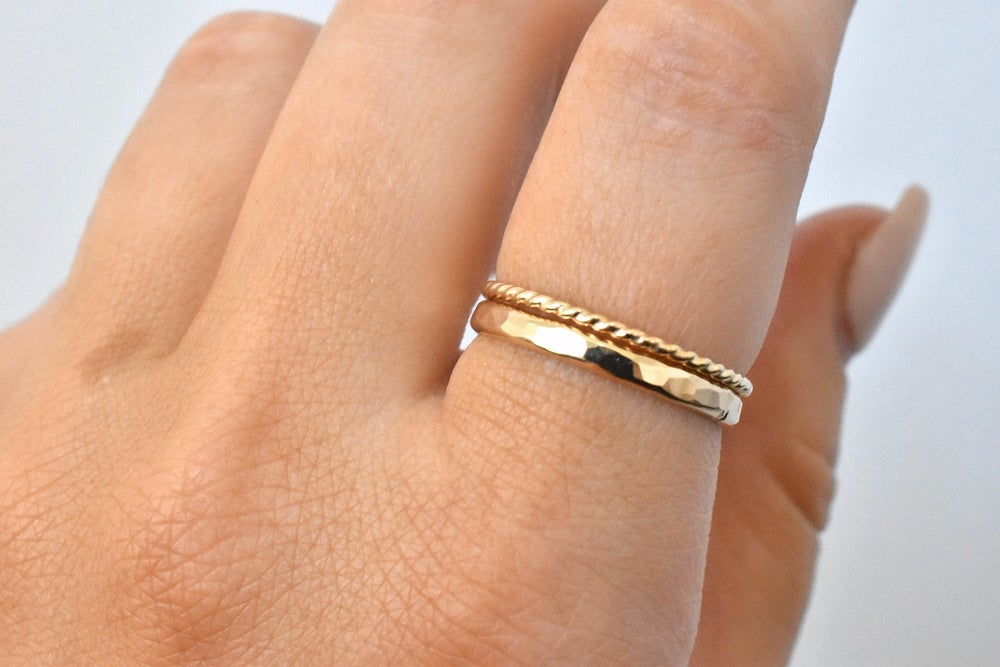 Image of Thick Hammered Ring in 14k Gold Filled