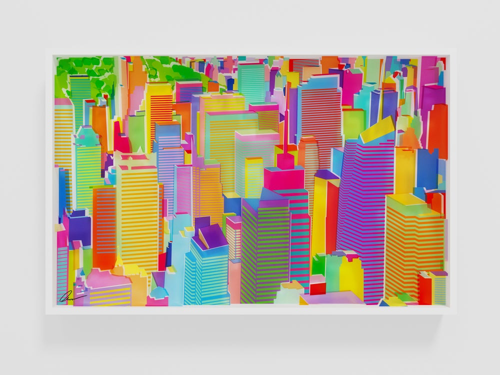 Image of Midtown and Central Park. 3D picture