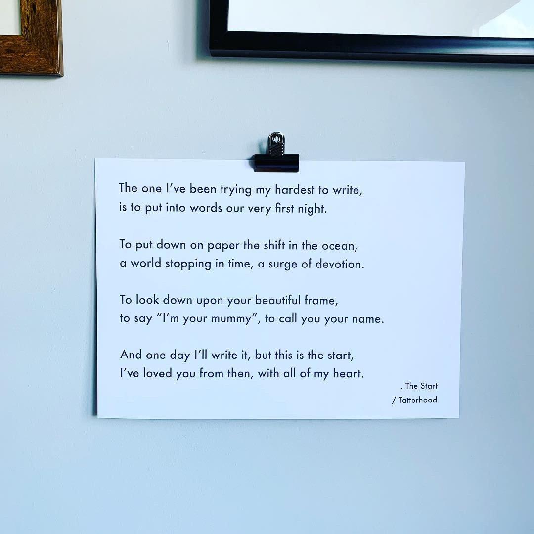 Image of The Start - Poem Postcard (Medium size)