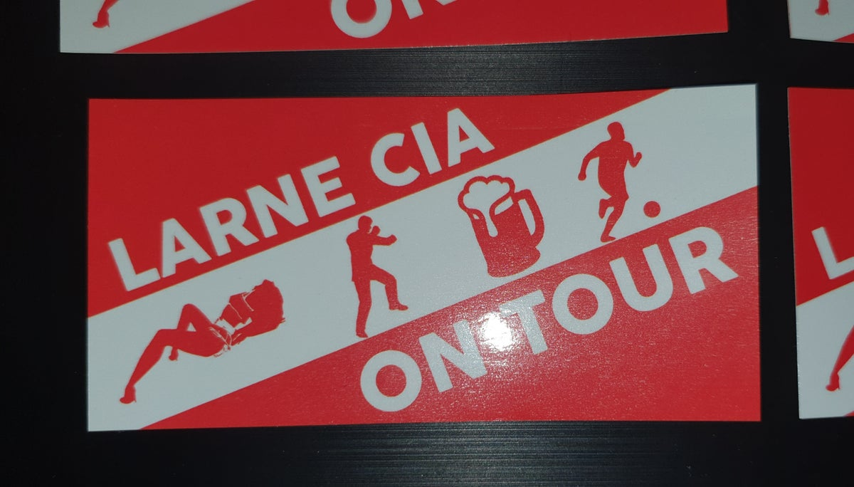 Larne Casual Inver Army CIA on tour pack of 25 10x5cm football casuals/ultras stickers.