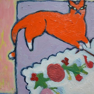 Image of Painting, 'Everyone has a bit of Kitten in them', Poppy Ellis