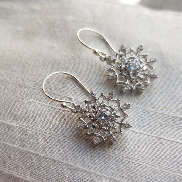 Image of Sparkling Snowflake Earrings