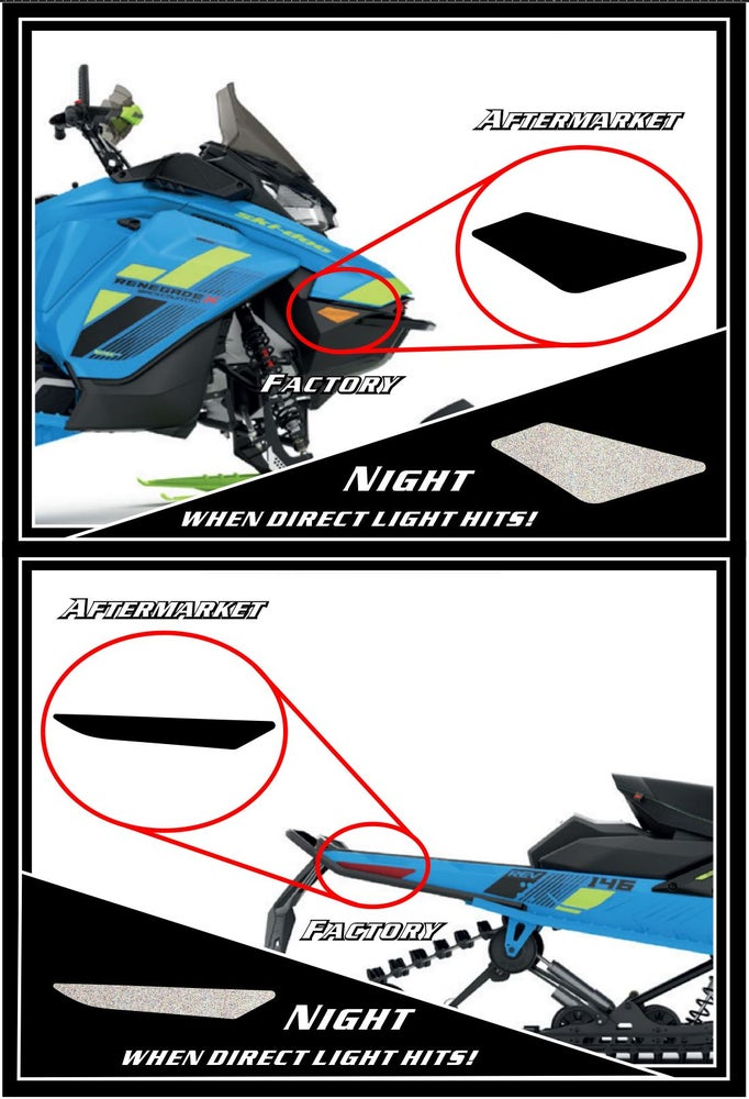 Image of SKI-DOO BLACK REFLECTORS MOD 1