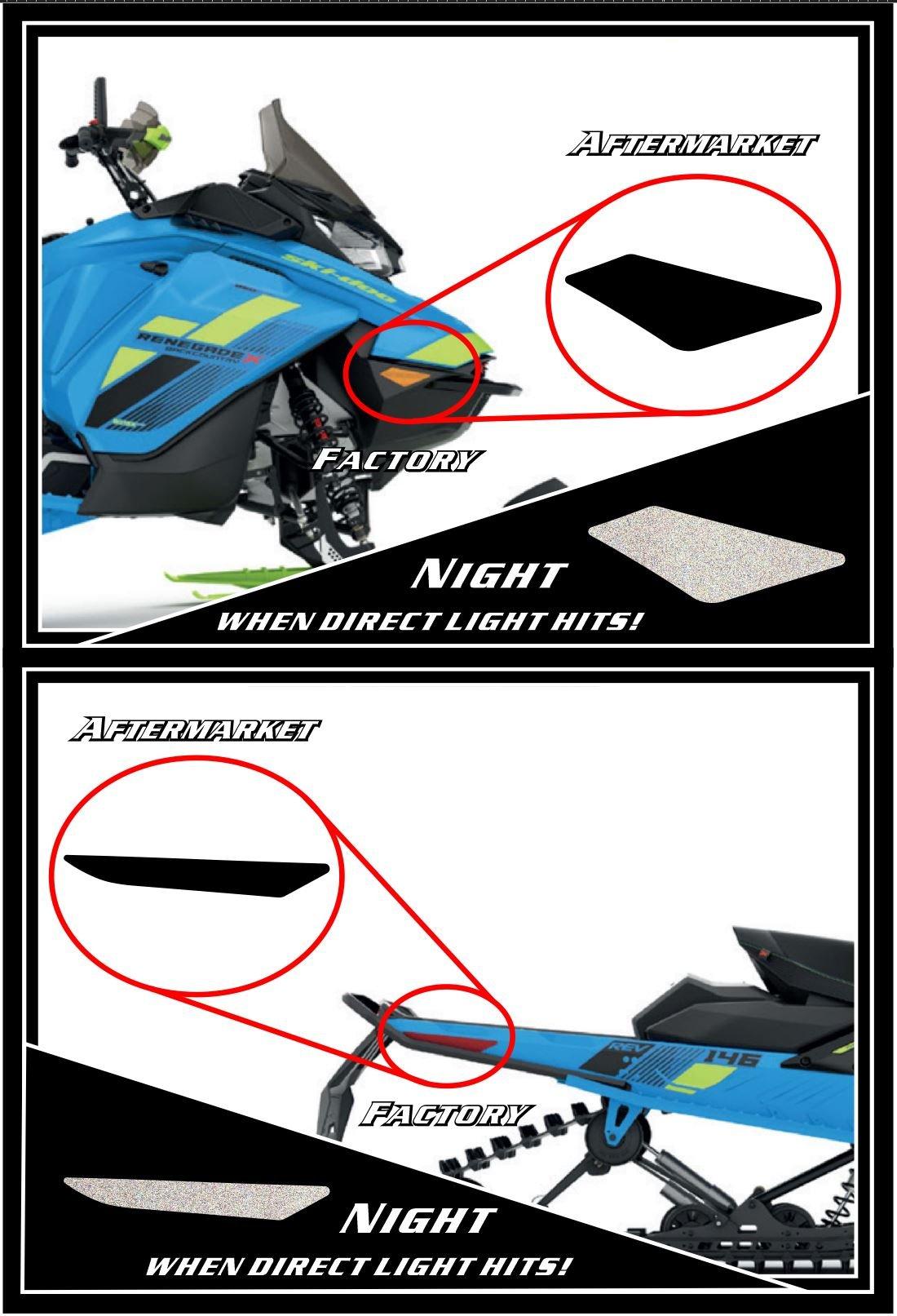 Image of SKI-DOO BLACK REFLECTORS MOD 1