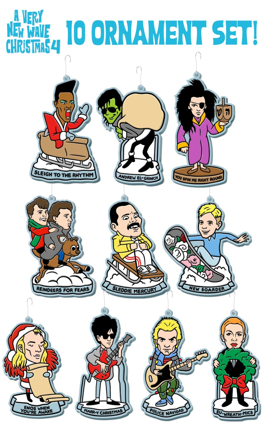 Image of (2019) 10 New Wave Ornament Set