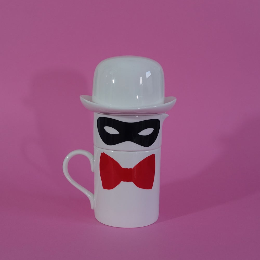 Image of Original Bow Tie Mug, Milk Jug and Sugar bowl set