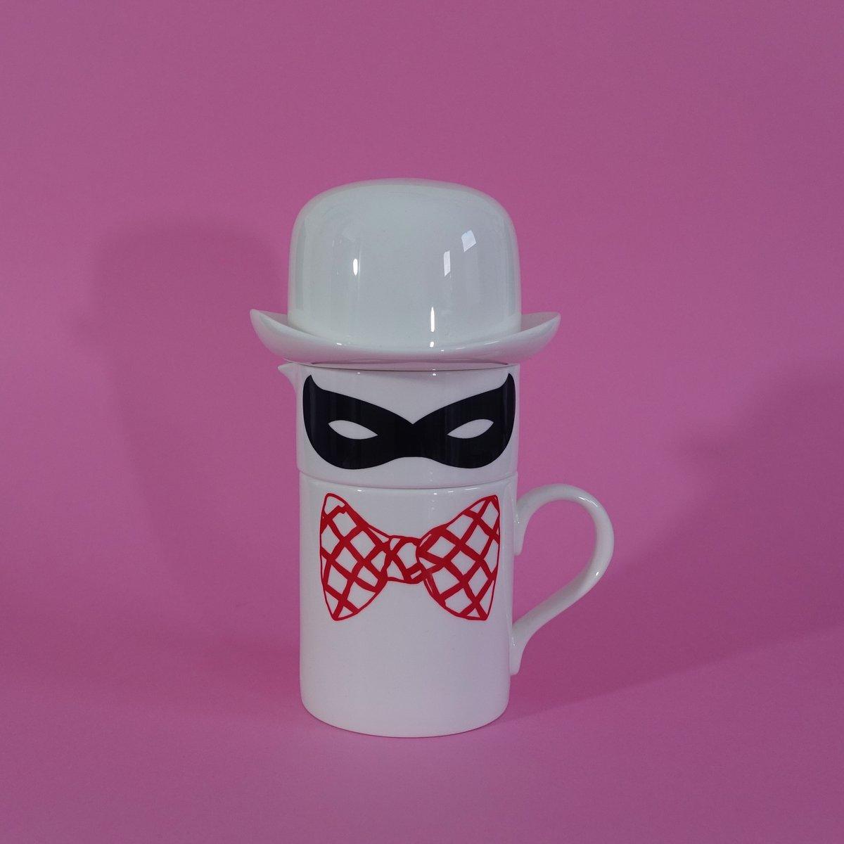 Image of Original Bow Tie Mug, Milk Jug and Sugar bowl set