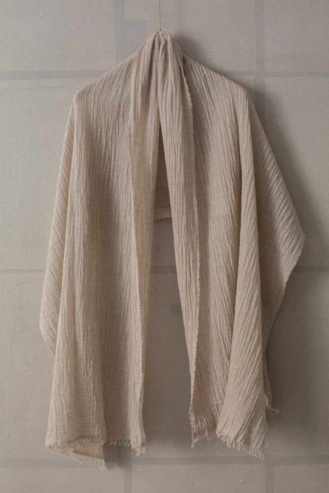 Image of Lightweight natural scarf by Jan-Jan Van Essche for Atelier Solarshop
