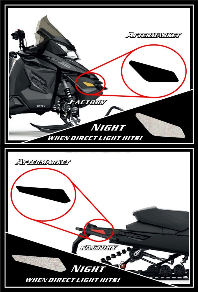 Image of SKI-DOO BLACK REFLECTORS MOD 2