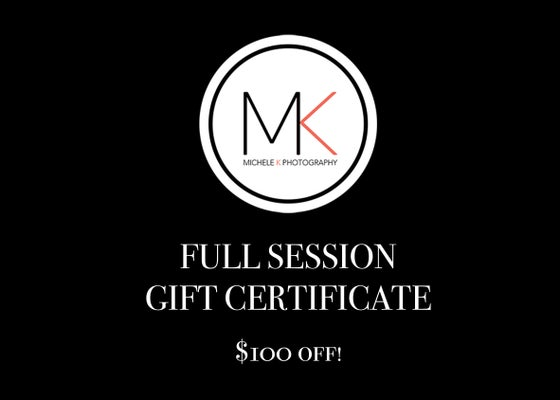 Image of BLACK FRIDAY Full Session Gift Certificate with print credit