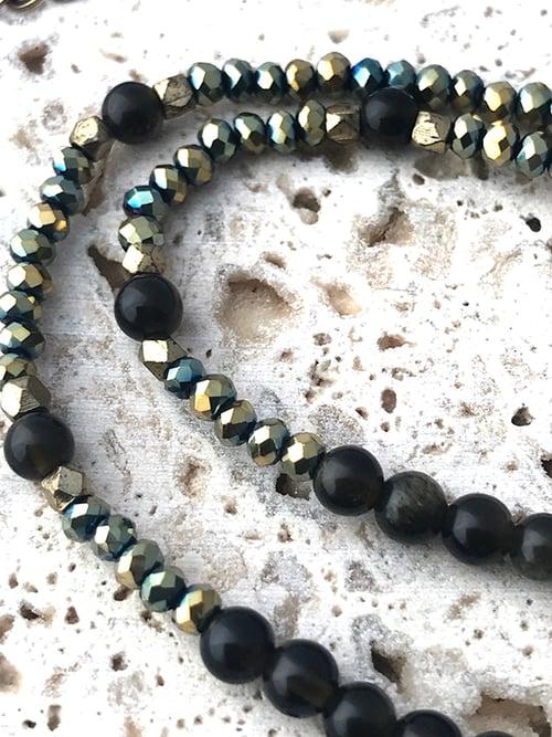 Image of Sautoir pierres pendentif pointe de flèche WODAABE