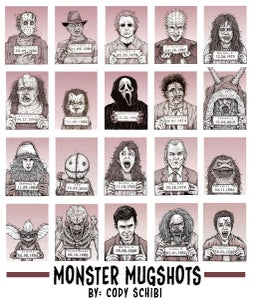 Image of 'Monster MugShots' Complete Set or Individual prints!