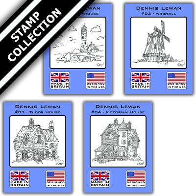 Image of Dennis Lewan Sketches Stamp Collection