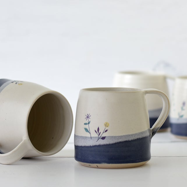 Image of Ceramic Flower Mug