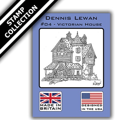 Image of Dennis Lewan Stamp #4 - Victorian House