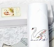 Image of Embroidered Swan Women's Handkerchief