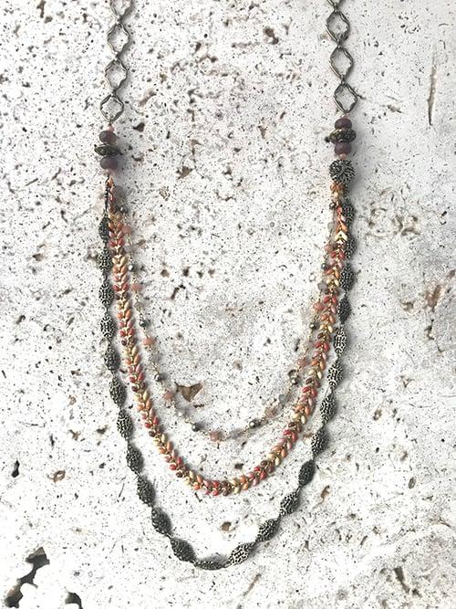 Image of Sautoir chaîne multi-rangs POKHARA