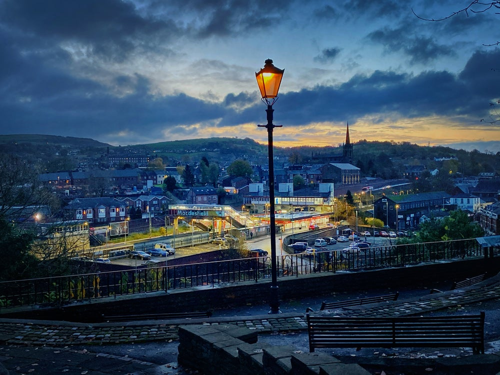 Image of MACCLESFIELD STATION FROM SPARROW PARK