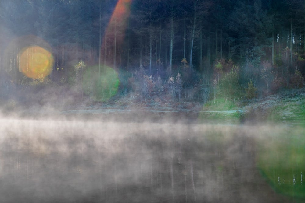 Image of MACCLESFIELD FOREST, DAWN MIST AND FLARE