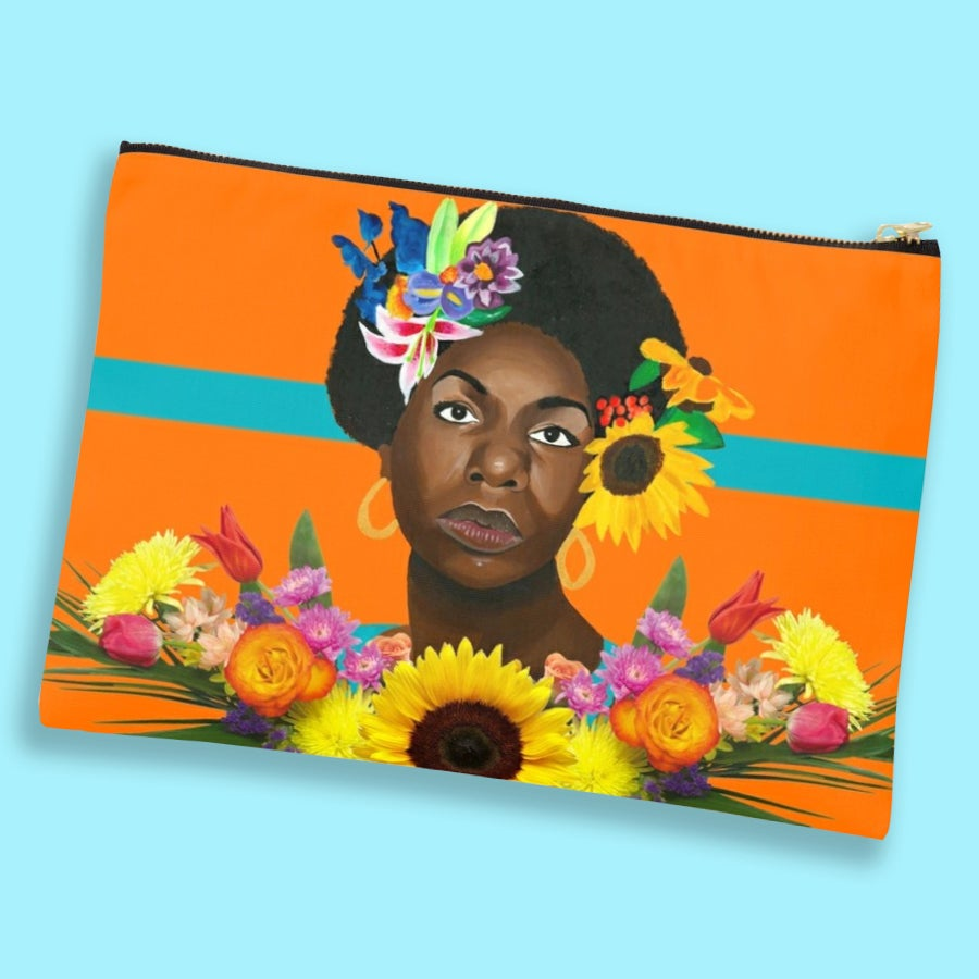 Image of Nina en Printemps (Canvas Clutch)