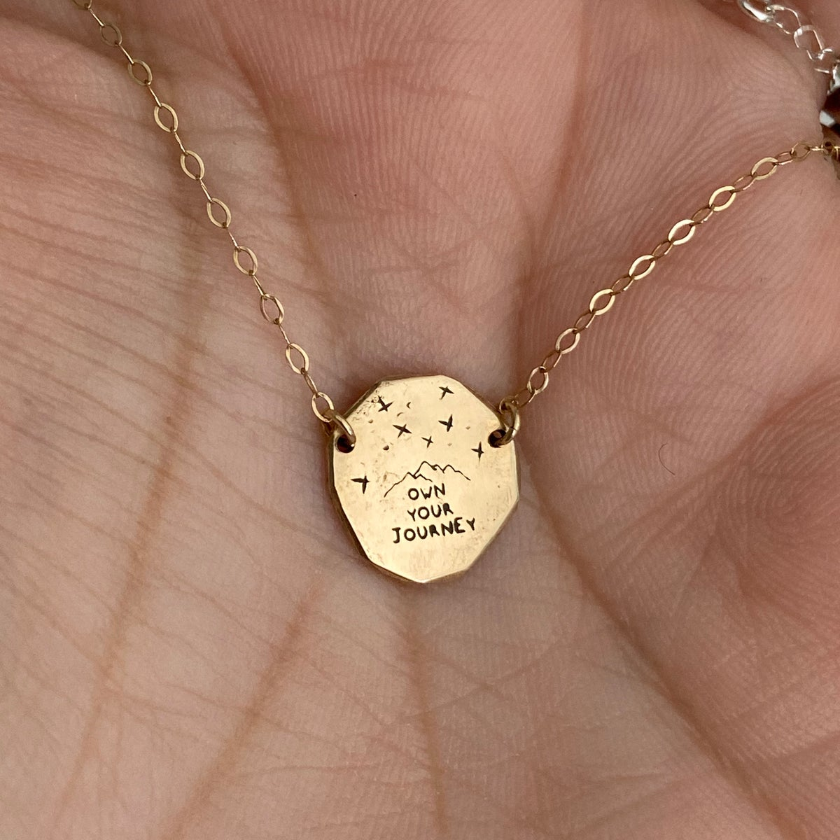Image of 14k gold coin necklace
