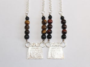 "Image of ""Tribal Royalty"" Necklace Collection (Red & Gold Tiger Eye) - VII DOSE X KuvLi"
