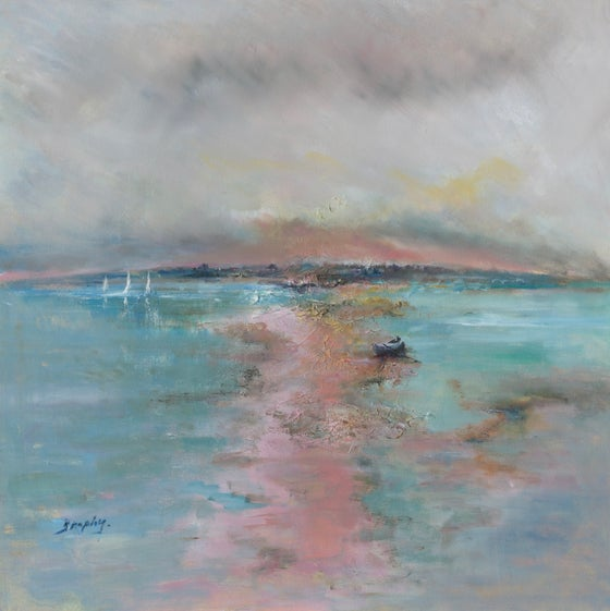 Image of 'Low Tide (Pink Light)' Mounted Print