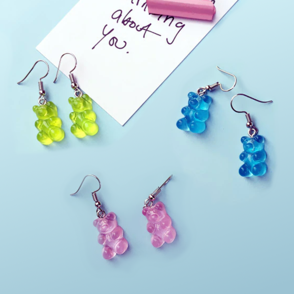 Image of A PAIR OF GUMMY BEARS EARRINGS